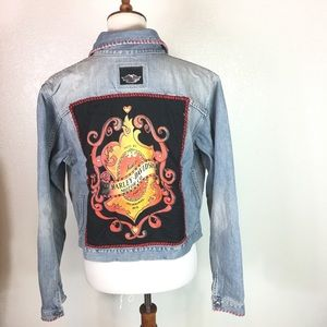 Lucky Brand  X Harley Davidson Denim Jacket